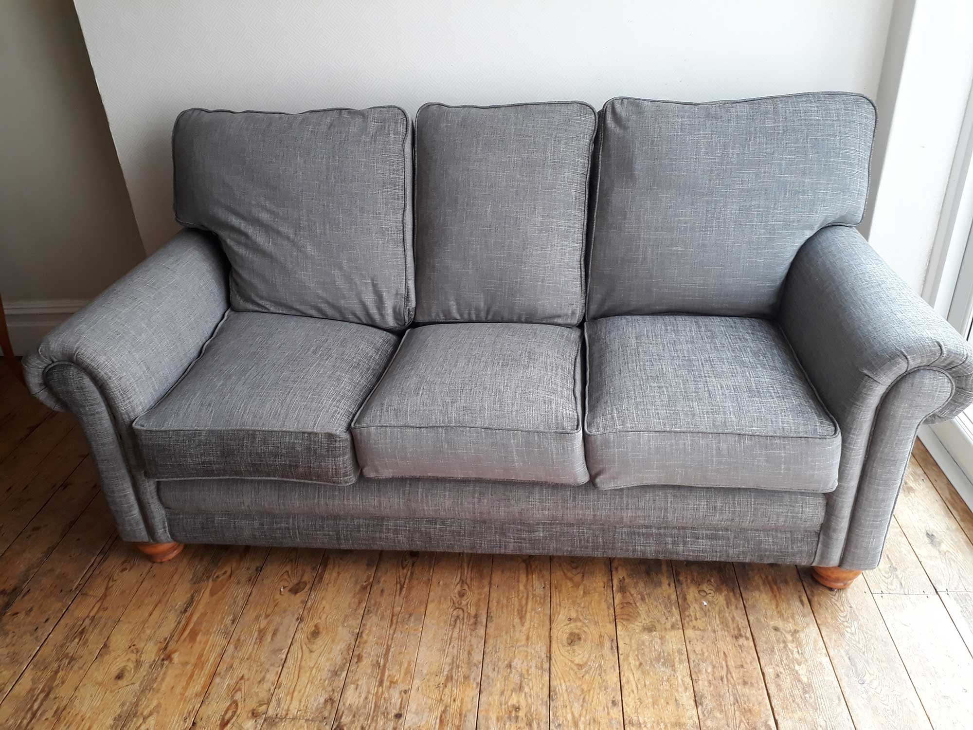 Re-covered 3 Seater Sofa