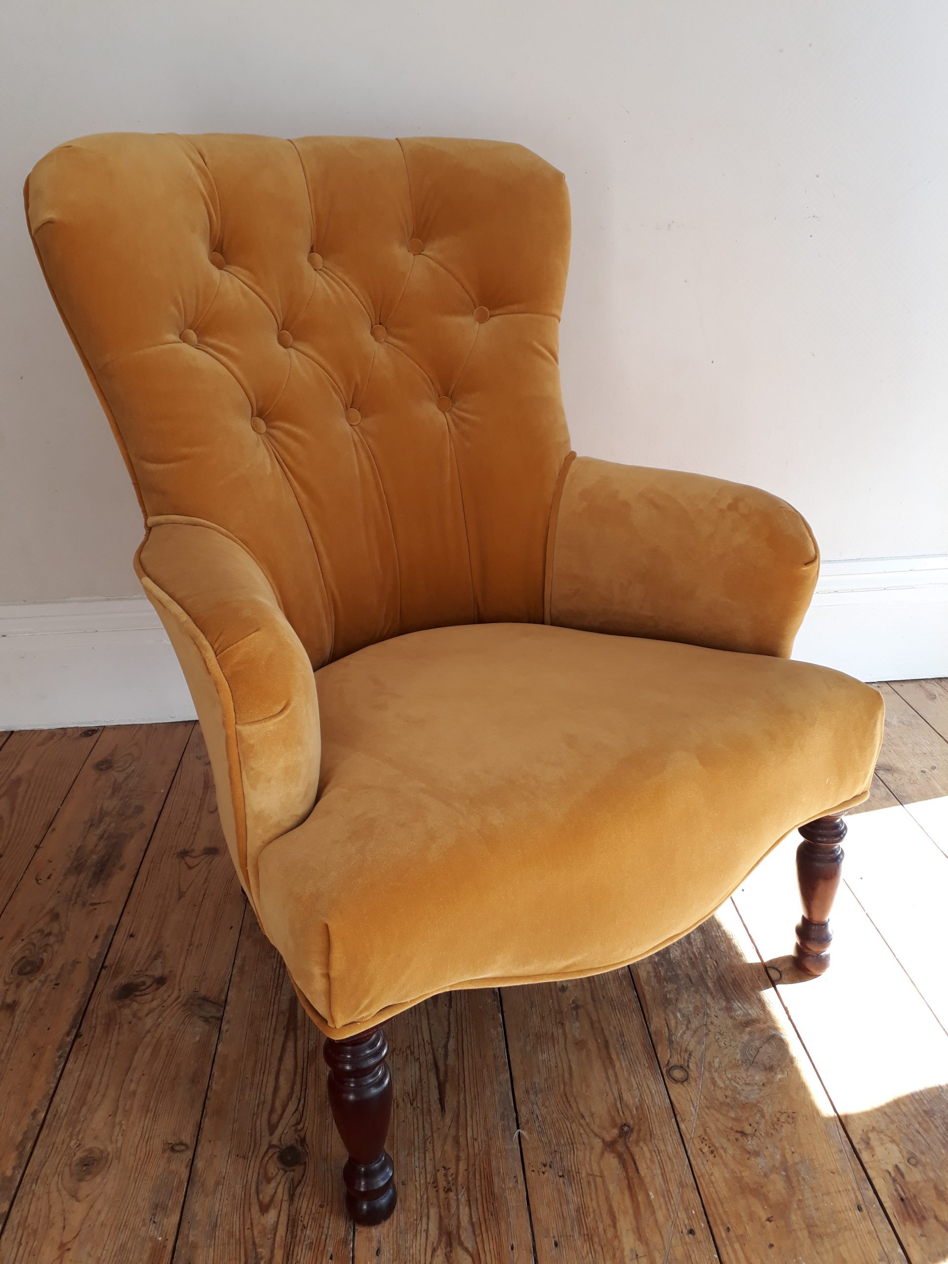 Re-Covered Buttoned Back Armchair