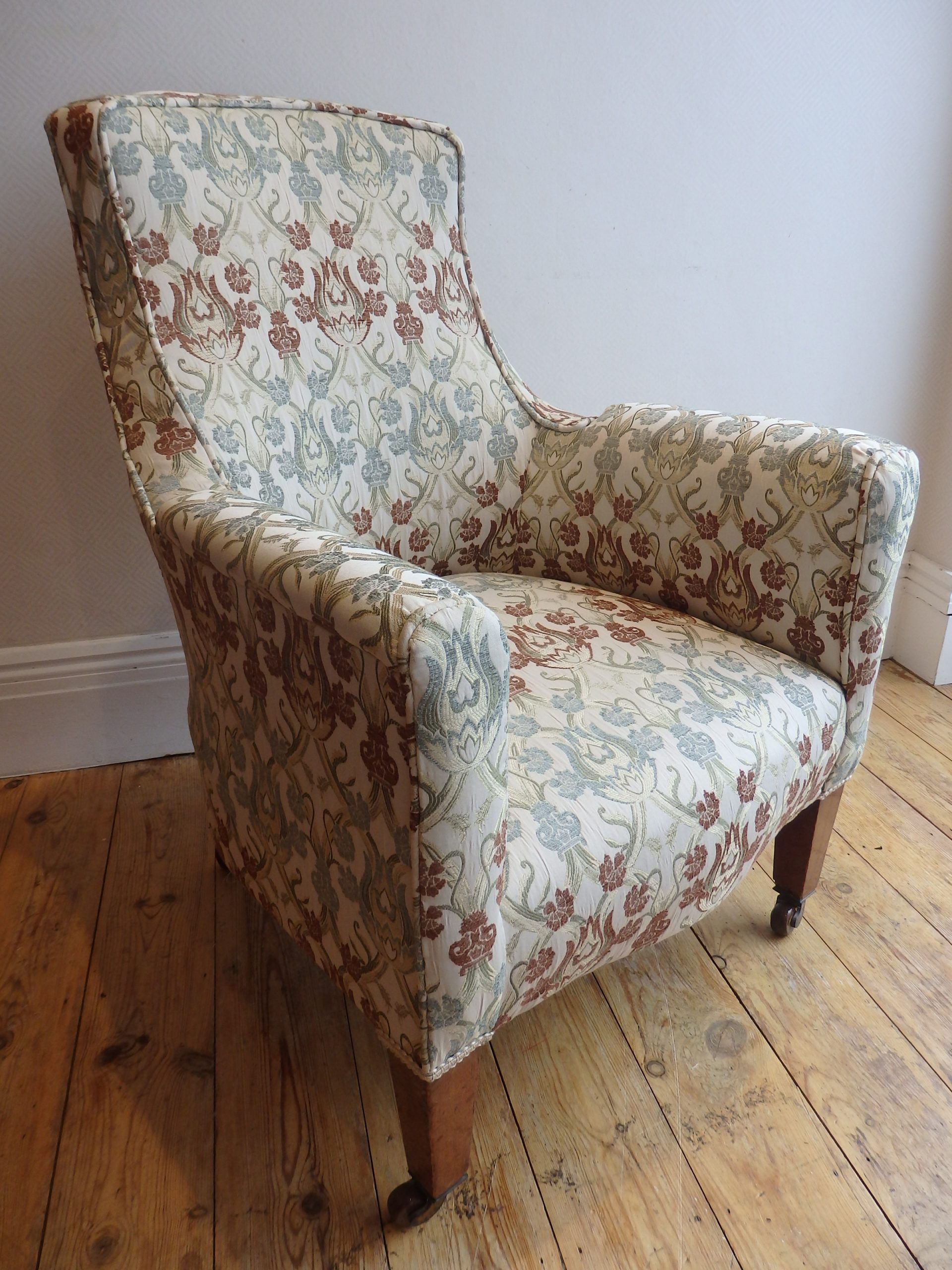 Repaired & Re-Covered Armchair