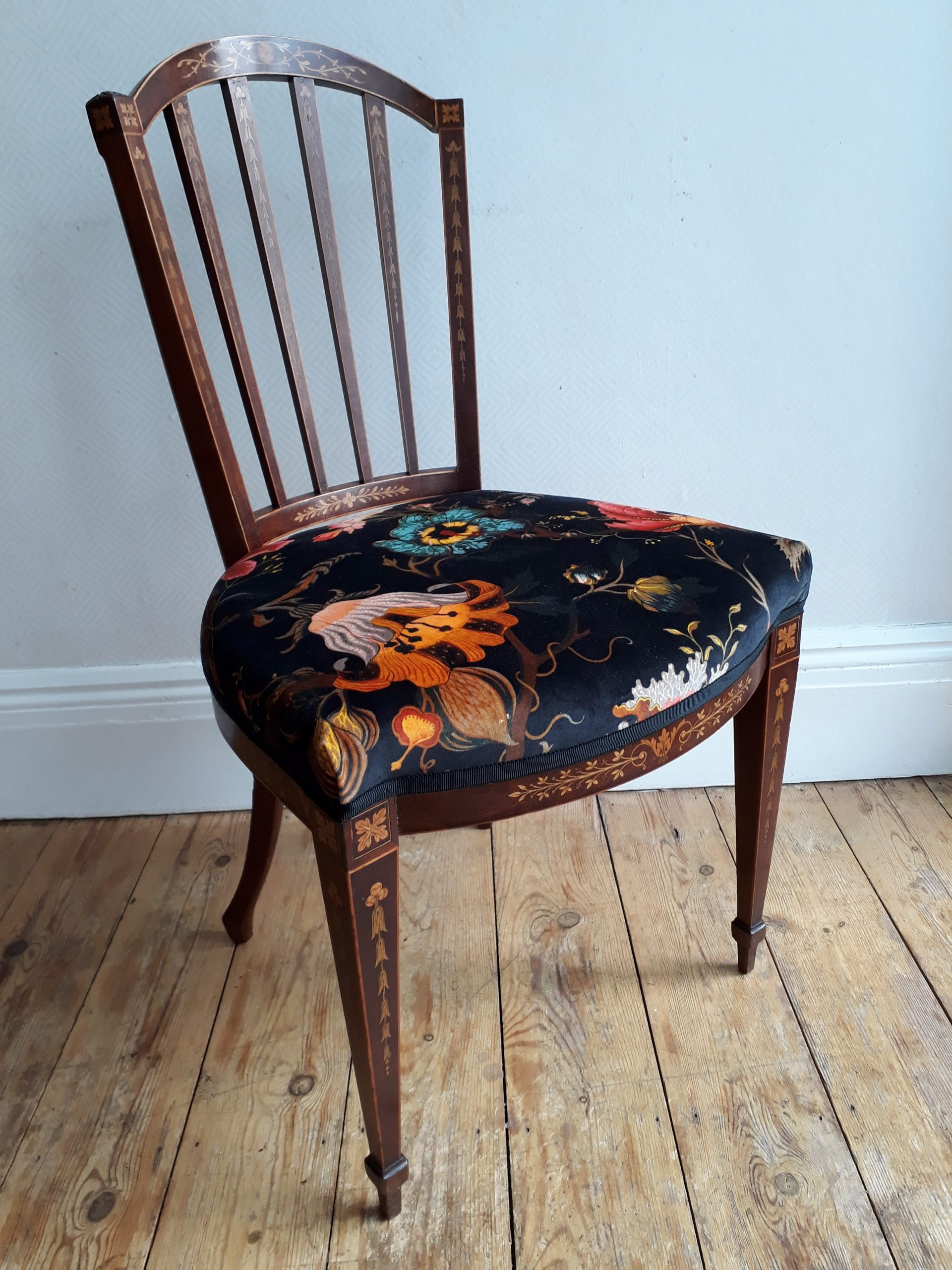 8 Edwardian Dining Chairs Re-Covered