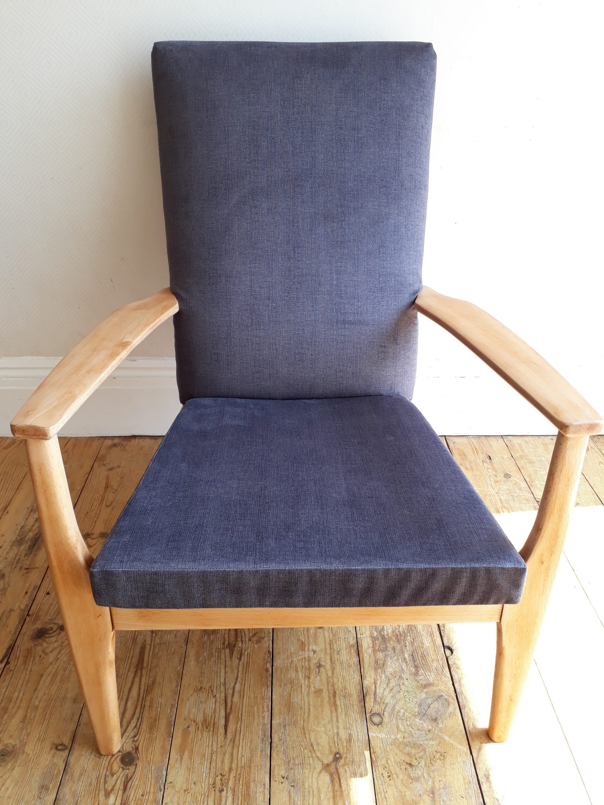 Repaired and Re-covered Parker Knowll Armchair
