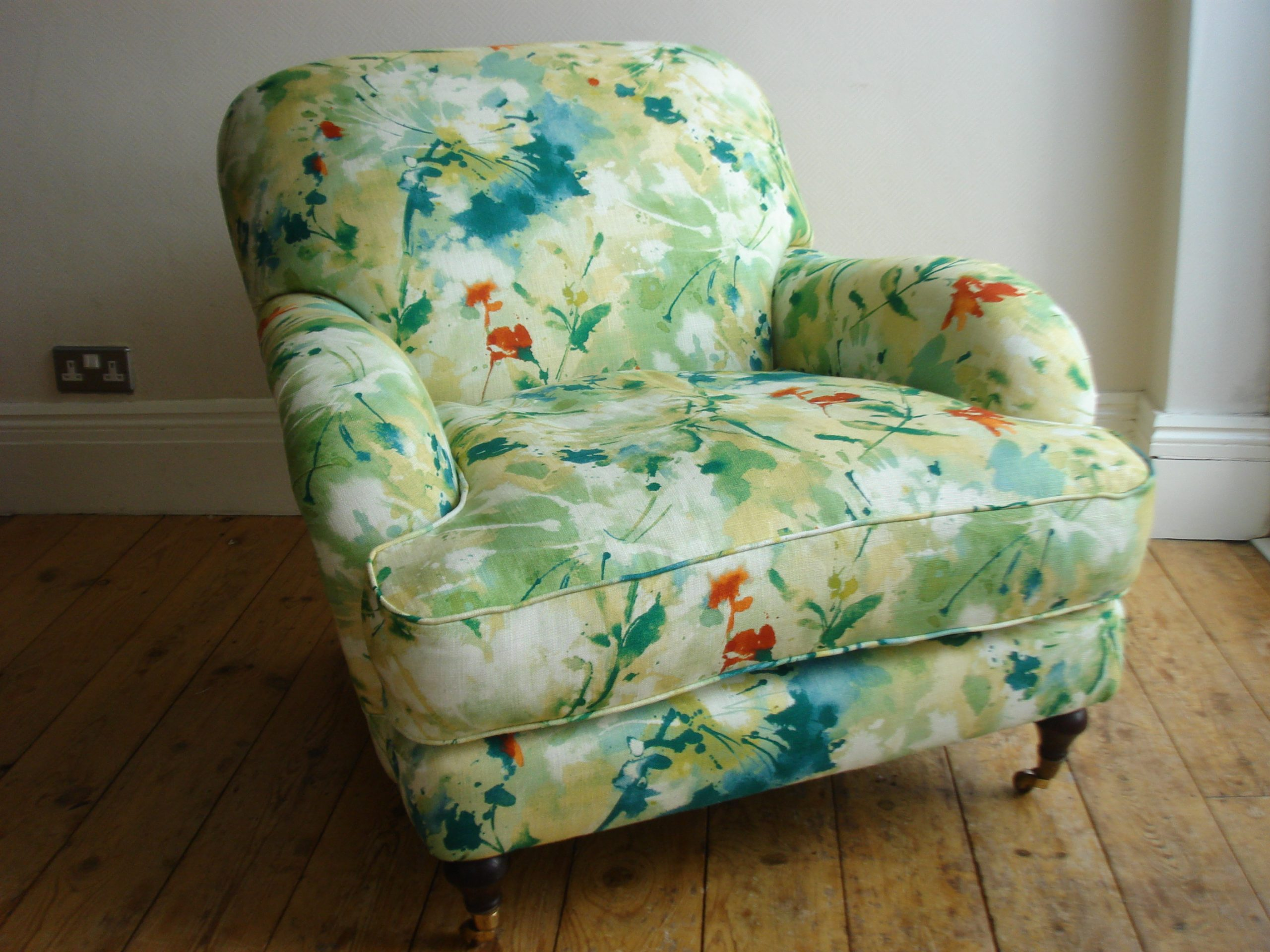 Re-covered Armchair