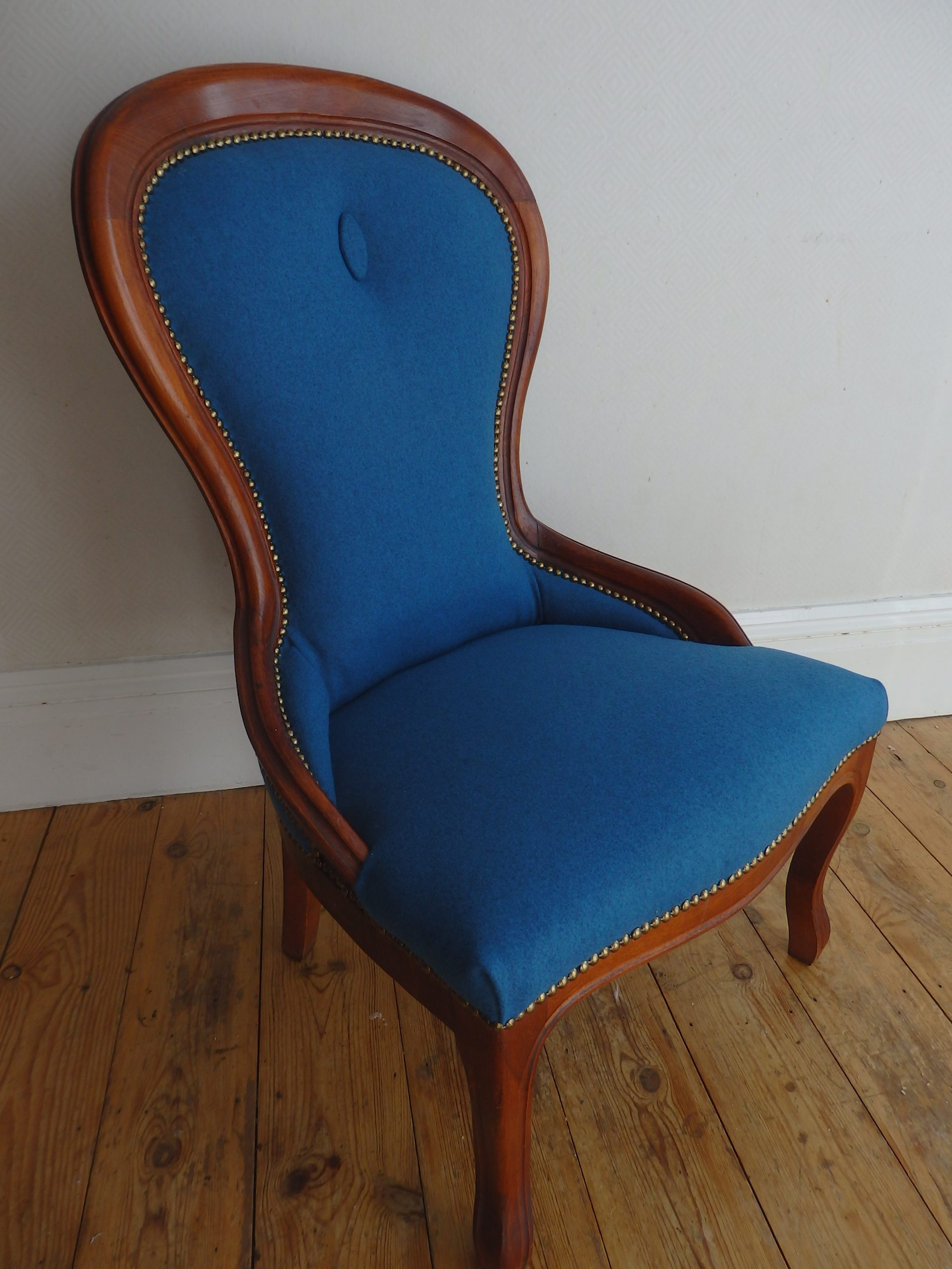 Re-Covered Reproduction Slipper Chair