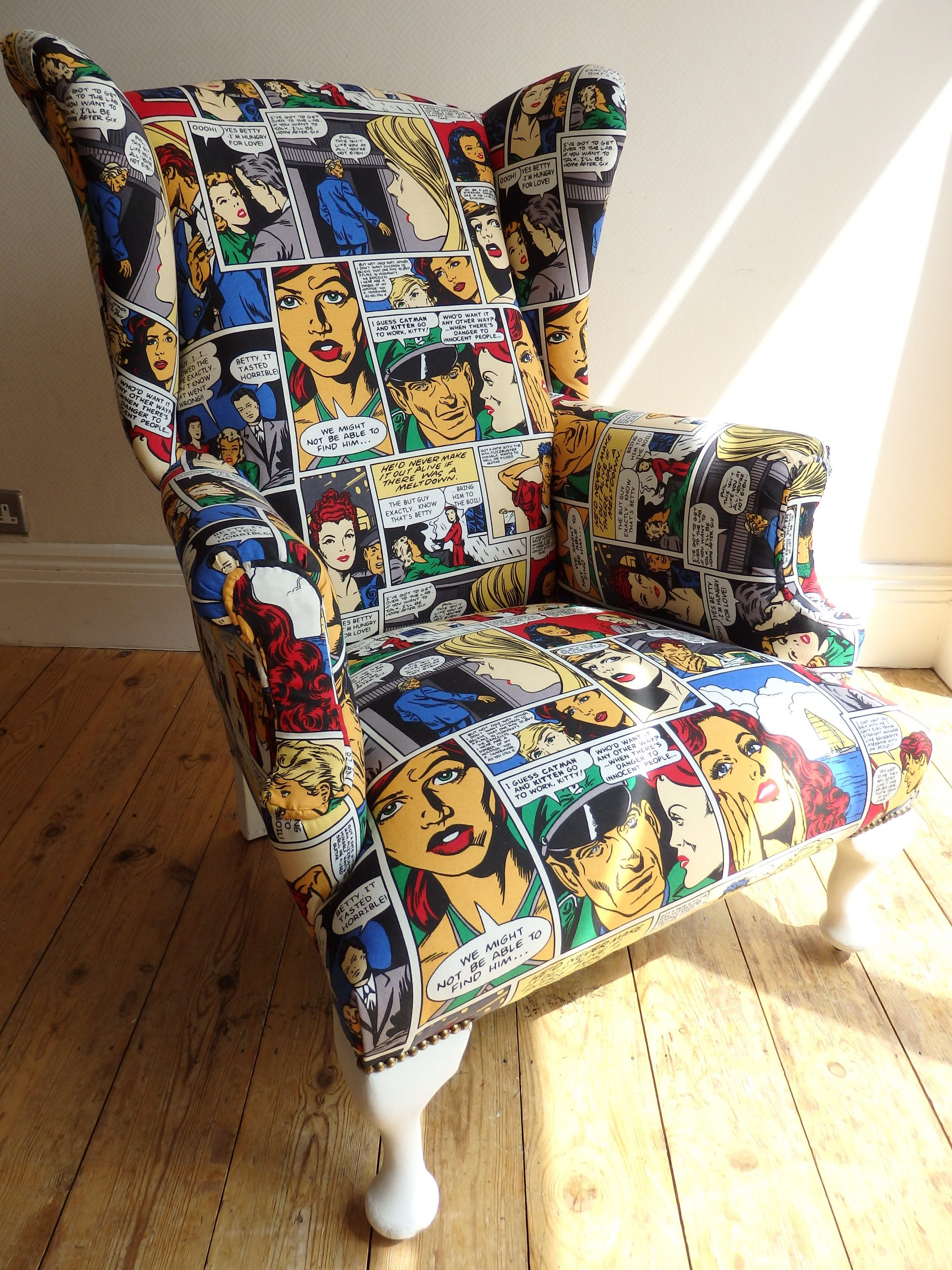 Restored and Recovered Wingback Armchair